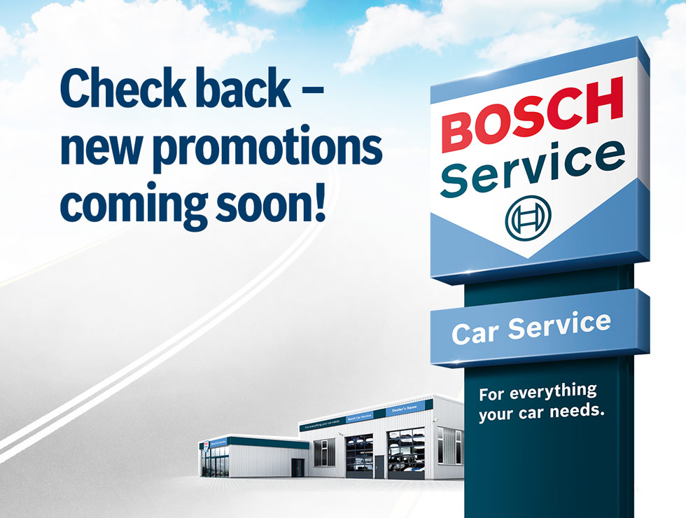 Bosch Car Service Promotions